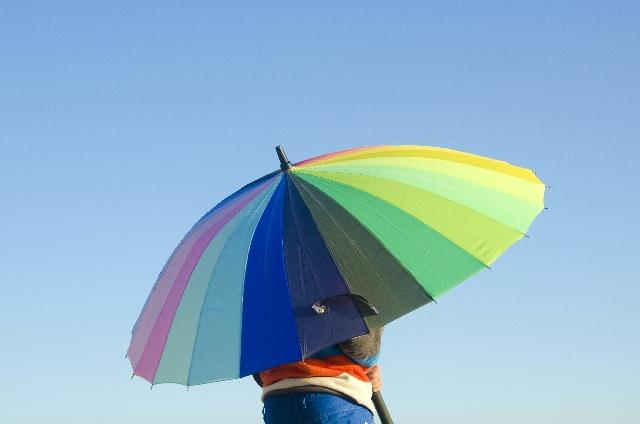 レインボー 傘